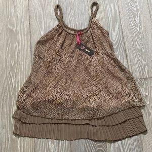 NWT Yumi Leopard Tiered Ruffle Dress